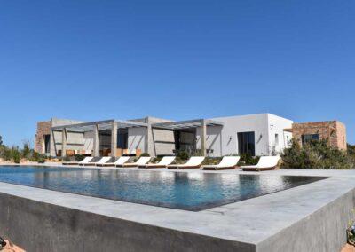 beautiful and modern swimming pool in villa Luz in cap de barbaria formentera