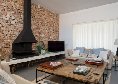 marvellous loungeroom with coffe table in wood formentera villa ines