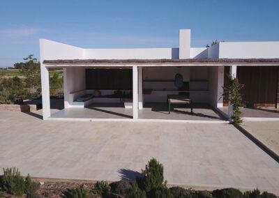outdoor space seating villa ines