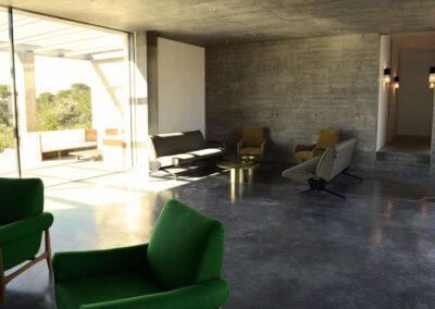 amazing sitting spaces for meeting in villa luz in cap de barbaria in formentera