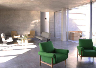 beautiful sitting area in the cozy living room of villa luz in cap de barbaria in formentera