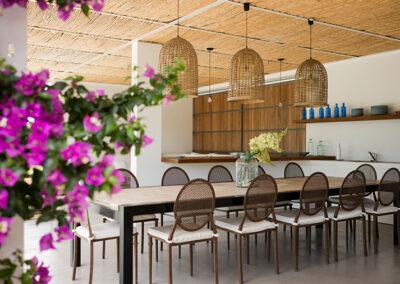 delightful dining area villa ines