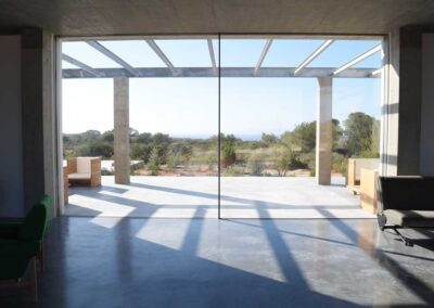 gorgeous view on the terrace from the relaxing area of villa luz in cap de barbaria formentera