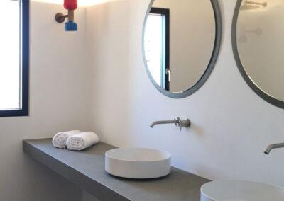 sleek and modern first toilet in villa luz in cap de barbaria in formentera