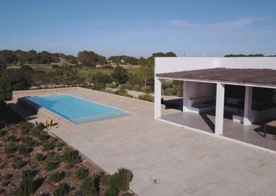 garden space marble floor villa ines