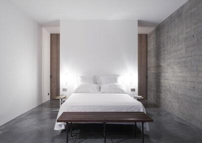 modern first bedroom in villa luz in cap de barbaria in formentera