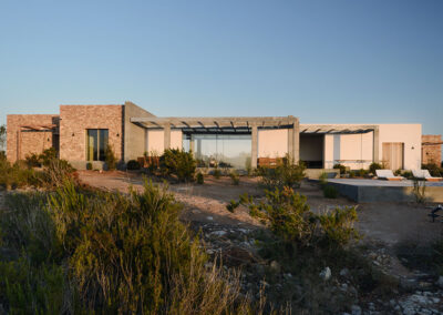 villa luz outdoors blended in with the nature of cap de barbaria in formentera
