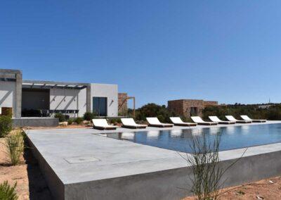 majestic shot of outdoors of villa luz in cap de barbaria in formentera