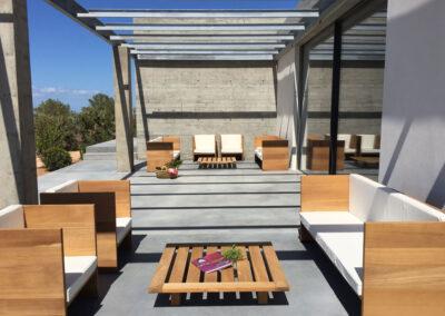 sublime porch for relaxing in villa luz in cap de barbaria in formentera