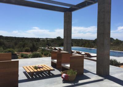 glamorous outdoor chilling area in villa luz in cap de barbaria in formentera