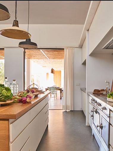 luxurious shoot of the kitchen in villa ines