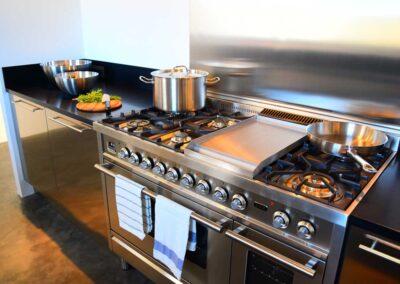 well equipped cooking area in villa luz in cap de barbaria in formentera