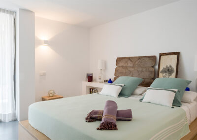 typical bedroom for two in villa ines formentera