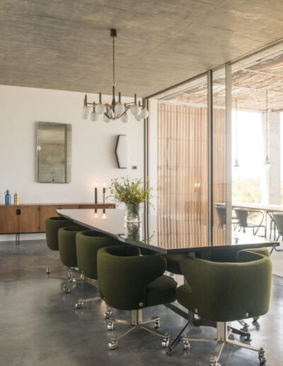 industrial setting with seating area in villa luz in formentera