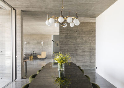 hall with table for dining in company in stunning villa luz in cap de barbaria formentera