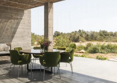 terrace in front of luxury villa luz in formentera, cap de barbaria