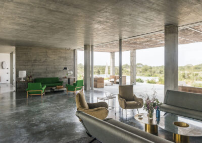 relaxing and design day beds in villa luz in cap de barbaria in formentera