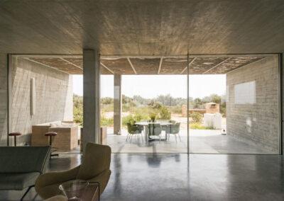 beautiful view on open space with plants in villa luz in cap de barbaria in formentera