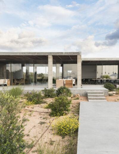 industrial garden and outdoor of villa luz in cap de barbaria in formentera