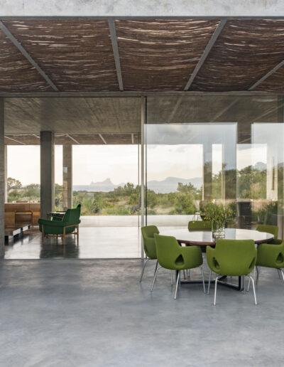 beautiful dining table on the terrace of villa luz in cap de barbaria in formentera