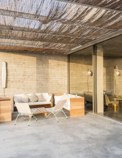 outdoor salon for friends gathering in luxurious villa luz in cap de barbaria in formentera