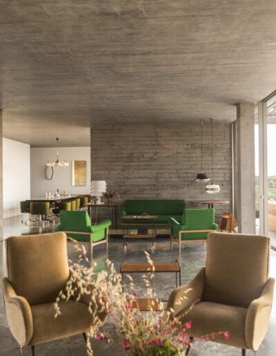 beautiful and modern salon in villa luz in cap de barbaria in formentera