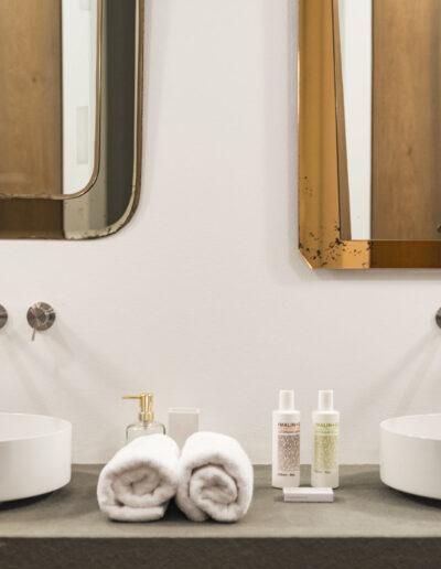 third toilet with double sink in the beautiful villa luz in cap de barbaria in formentera