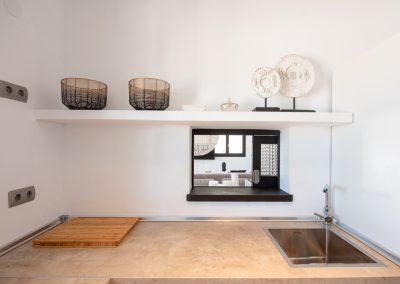 newly kitchen equipment in villa tierra