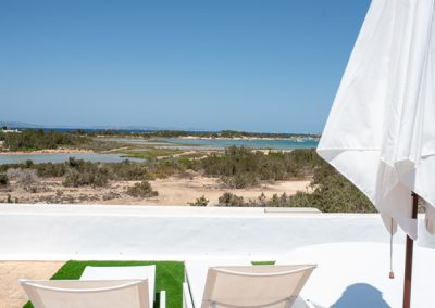 typical view from roof terrace at villa tierra formentera