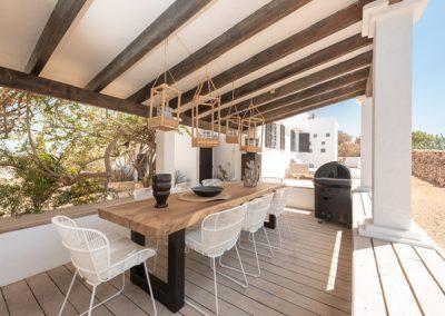a classy bbq area at villa tierra in formentera