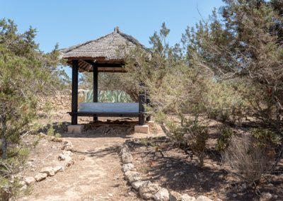 outdoor bed surrounded by wild nature villa tierra