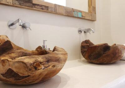 expensive washing details in the second bathroom of villa Sueño in la mola formentera