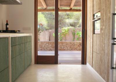 view on terrace from window in the kitchen of villa sueño in la mola