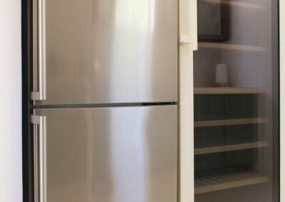 Kitchen fridge for healthy food in the kitchen of villa sueño in formentera