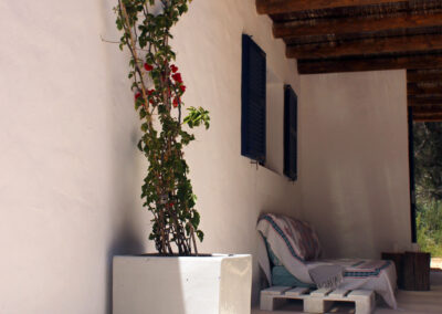 villa sueño outdoor chilling area in la mola formentera