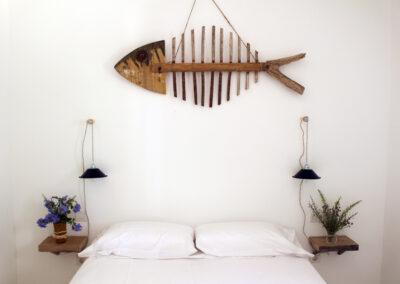 decorative details in first bedroom of villa sueño in la mola formentera