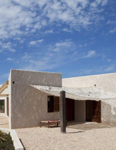 stylish villa bohemian with squared shape located in formentera