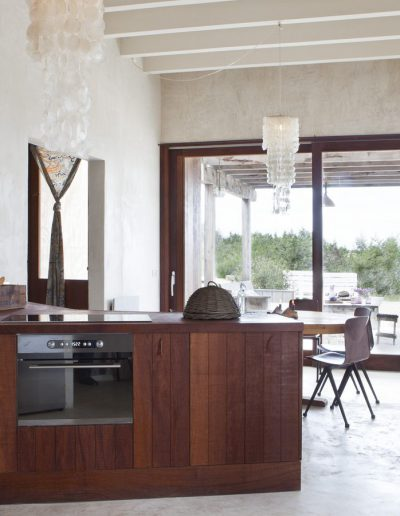 an excellent second view of the kitchen at villa behemian