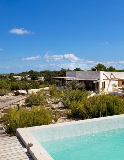 relaxing landscape of the villa bohemian in formentera