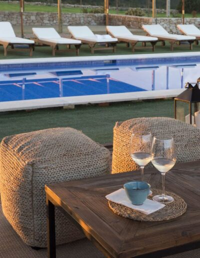 pool terrace in the charming villa Soleil for rent in formentera