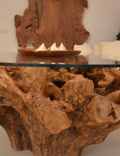 handmade artisans table in wood formentera