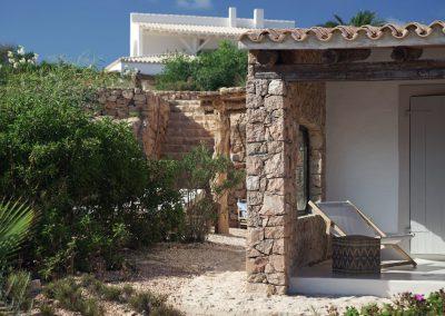 luxurious external area in villa Om