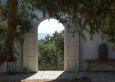splendid garden in Villa om with fantastic view of formentera sea