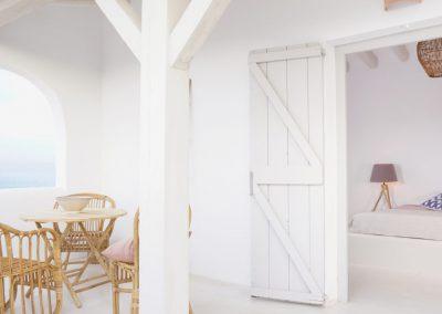lavish and bright balcony of a double bedroom in formentera
