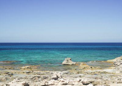 majestic landscape of a beach in formentera