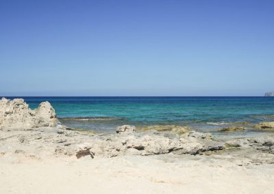 fascinating second view of the beach in formentera