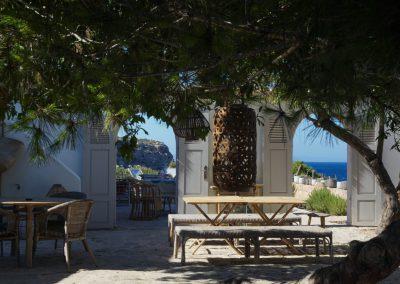 charming courtyard at villa om