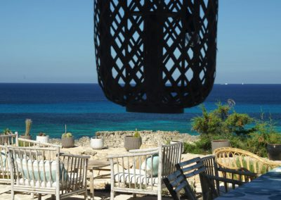 pretty wooden lantern facing the beach at villa om