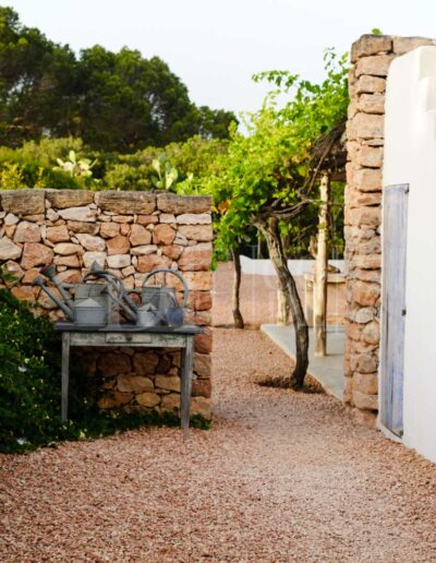 stairs leading to the roof of villa casanita, a luxury property for rent in sant Francesc, Formentera