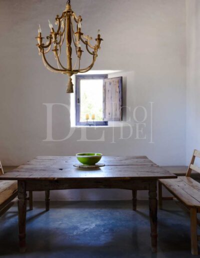 additional seating area in this charming formentera style villa casanita, for rent in sant francesc